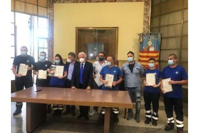 Emergenza Covid, al Comune encomio per i dipendenti di Salerno Pulita